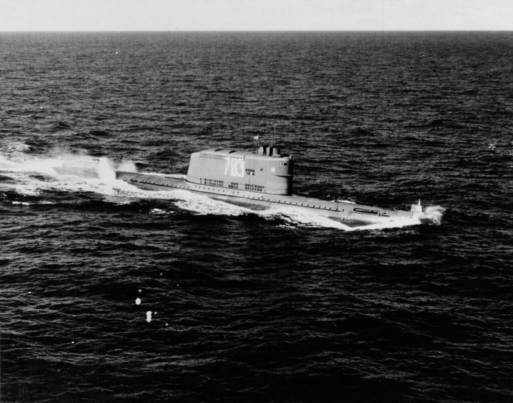 Soviet G Class Guided Missile Submarine. In 1962.