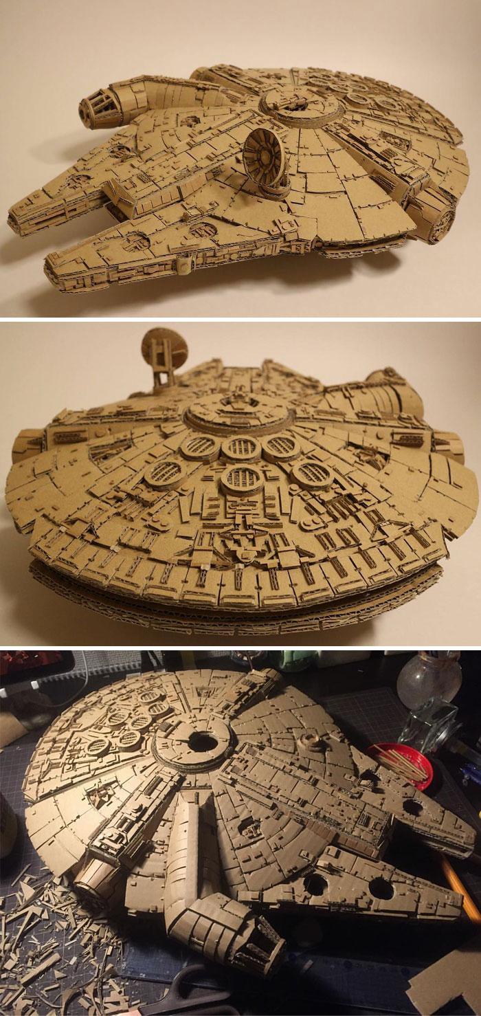 Космический корабль «Тысячелетний сокол» из «Звездных войн» один в один как в кино.