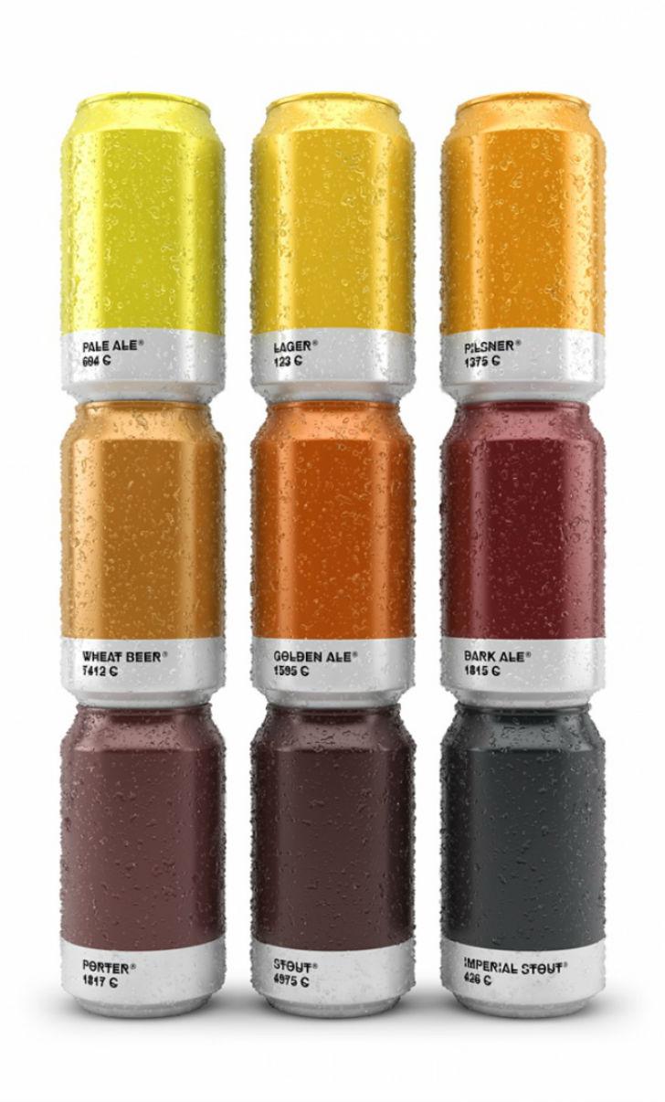 Испанское агентство Txaber придумало яркую упаковку для пива, которая представляет собой палитру цве