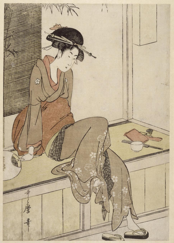Красавицы в японской гравюре