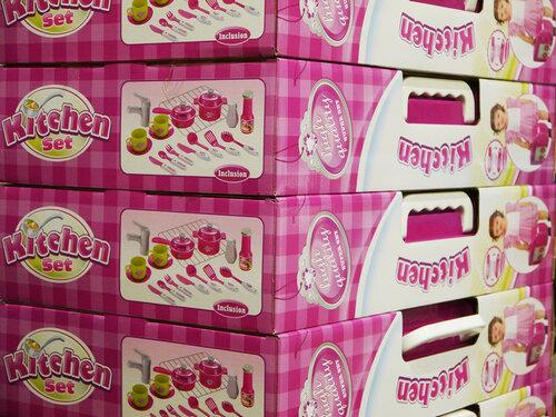 Кухня игрушечная со светом и звуком в чемоданчике Kitchen Set 008-58