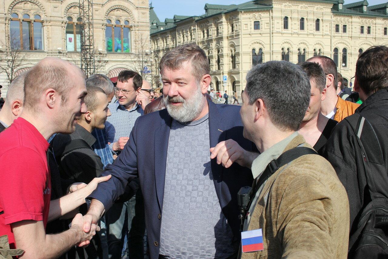 На Красную площадь приехал Вячеслав Мальцев