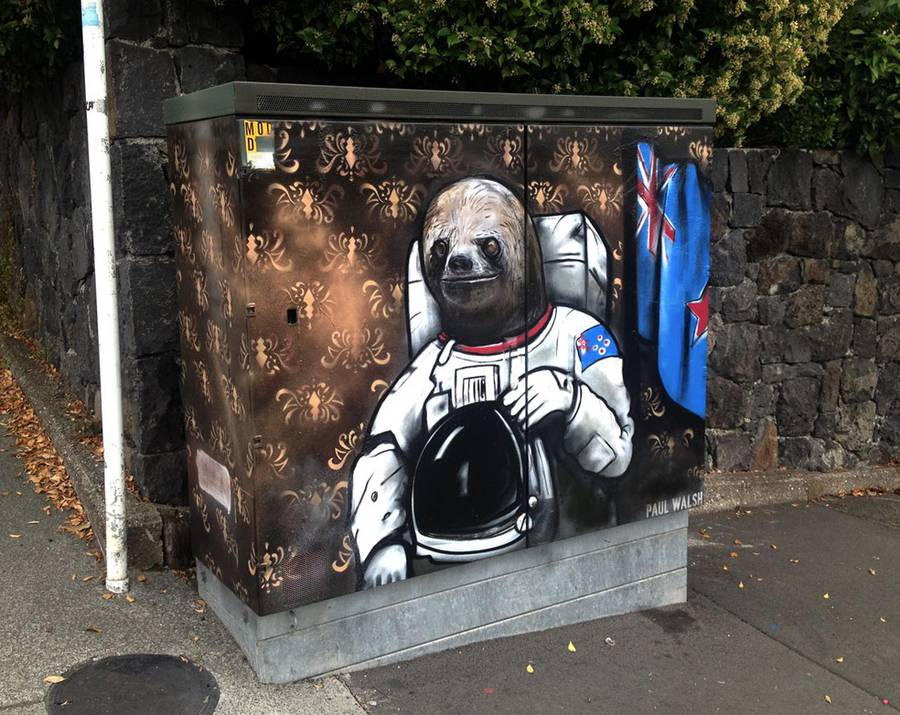 Animal Caricatures on Utility Boxes
