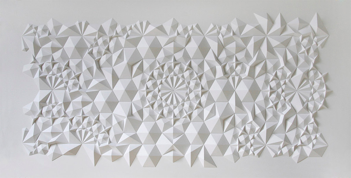 Gorgeous Geometric Paper Sculptures by Matthew Shlian