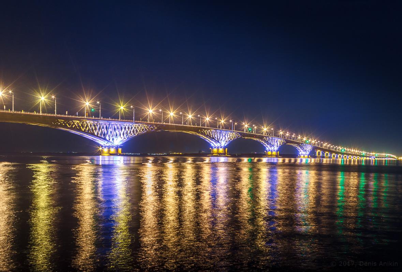 возвращение исторической подсветки на мост Саратов-Энгельс фото 4