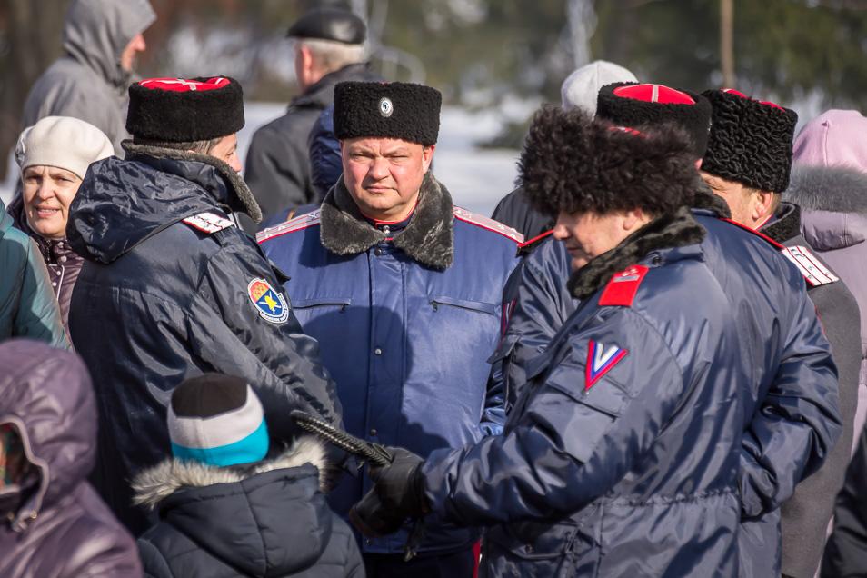Мордовские казаки в Саранске на праздновании Масленицы
