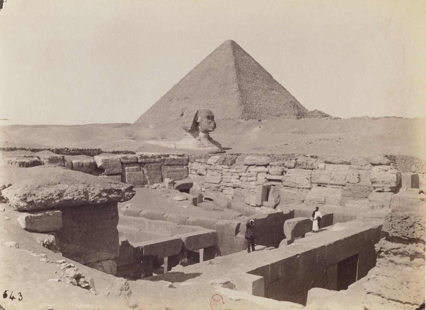 Гиза. Сфинкс, храм Исиды и Пирамиды. 1873