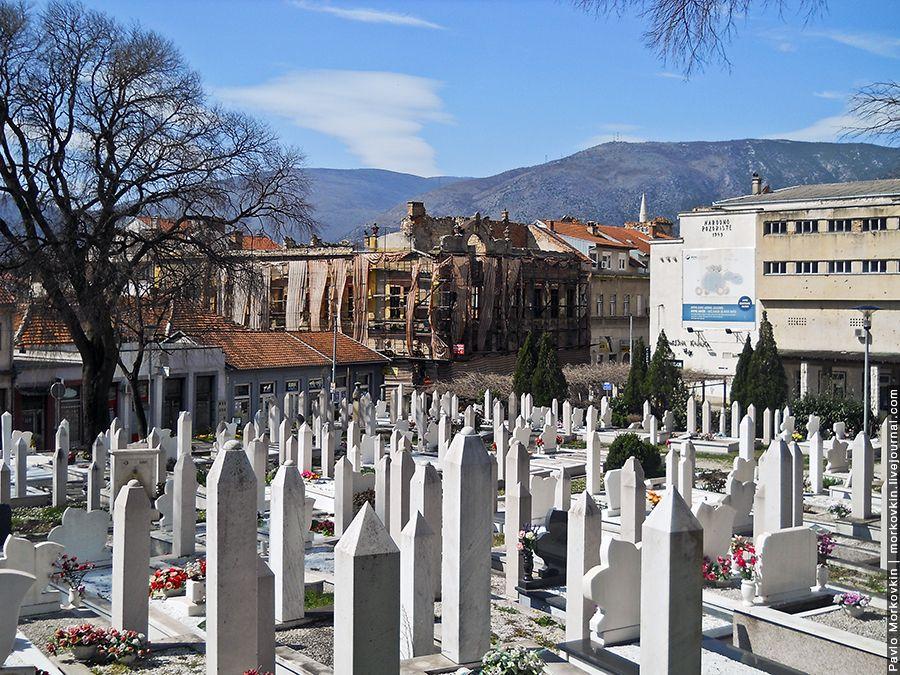 Мусульманское кладбище в Мостаре