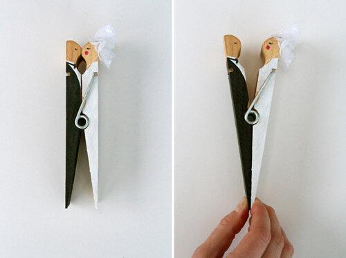 Свадебный декор из прищепок