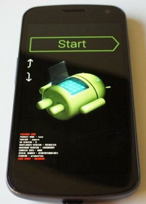 на планшете андроид с восклицательным знаком