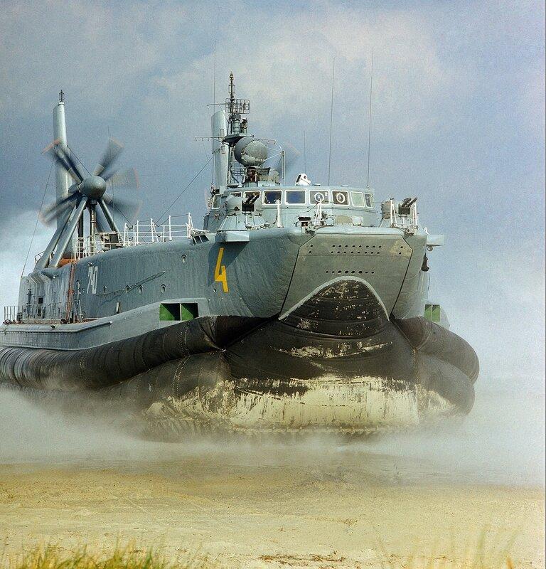 Sowjetisches Luftkissenboot auf der Ostsee bei Peenemьnde