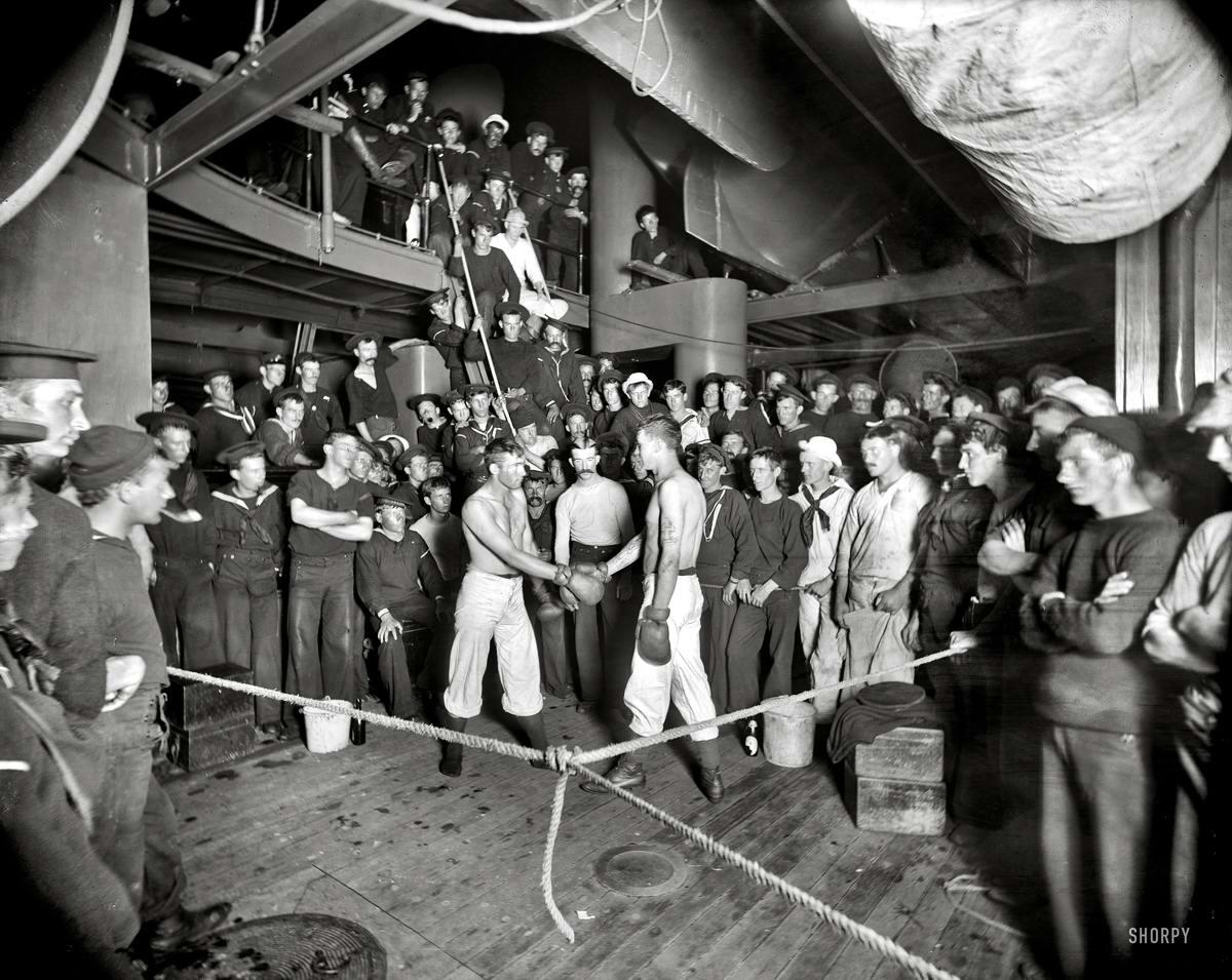 Корабли, речные суда и военные моряки на снимках американских фотографов конца 19 века (23)