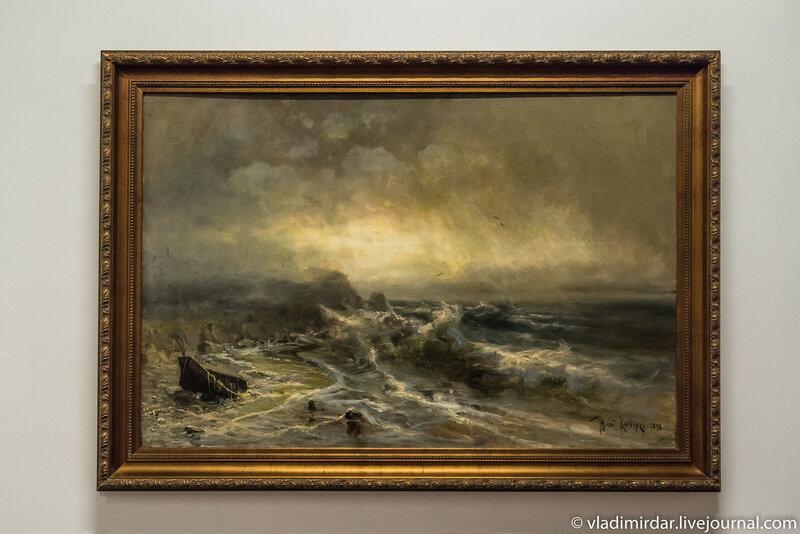 Буря на море. Юрий Клевер. 1898.