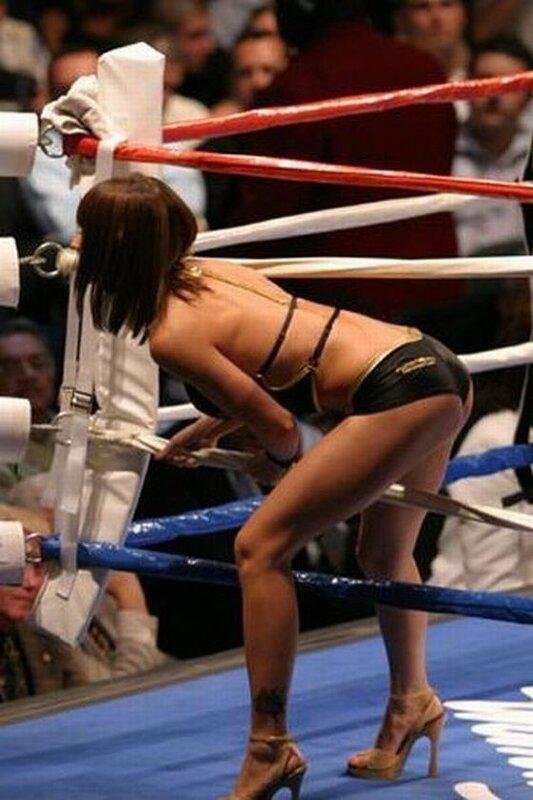 девушки очень смотрятся на ринге освободился