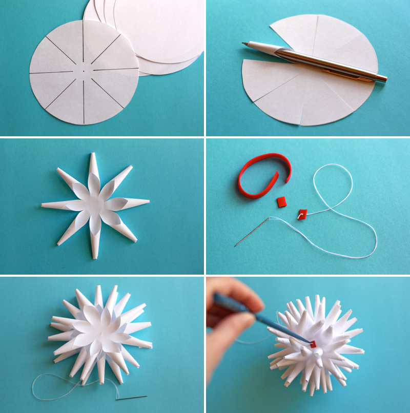 3d снежинки из бумаги своими руками на