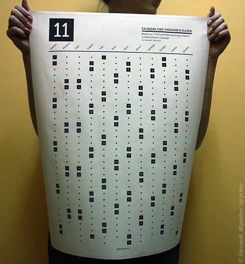 Постер-календарь в жизни - 71Kb