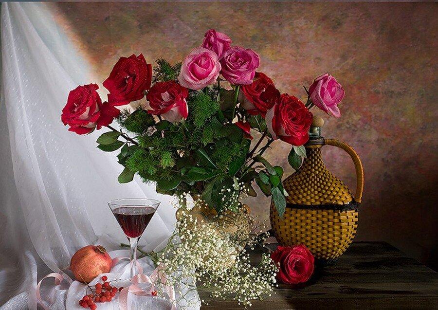 добрый вечер картинки букет роз является
