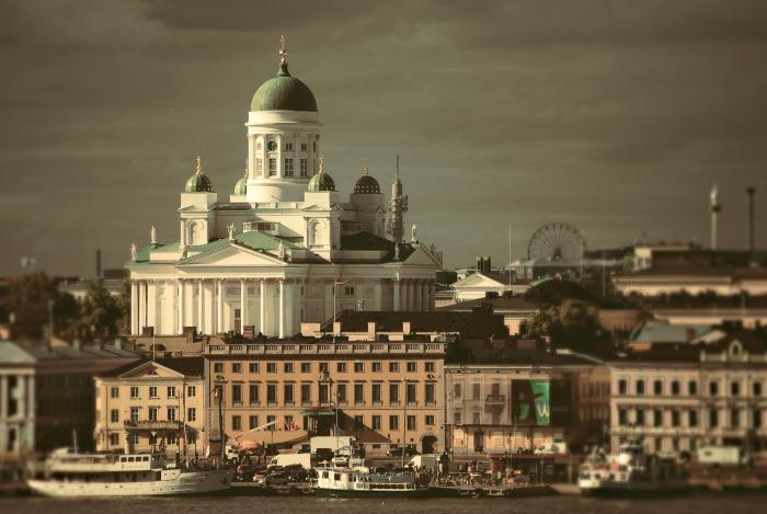 вид города Хельсинки Кафедральный собор Лютеранской церкви