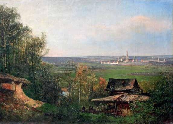 Фёдор Иванович ЯСНОВСКИЙ (1833—1902) Вид с Воробьёвых гор. 1870-е