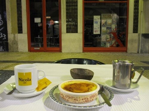 Tea desert Lisbon Portugal Baixa Da Prata