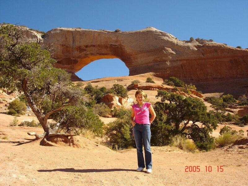 Штат Юта. Вот такие ОКНА в Arches National Park.