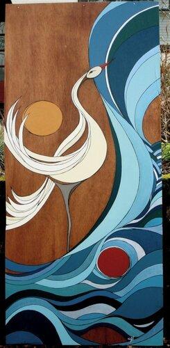 Роспись акрилом по дереву