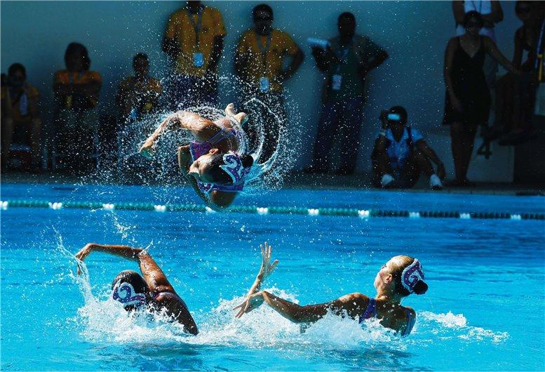 Сборная Мексики по синхронному плаванию, фотограф Juan Carlos Ulate