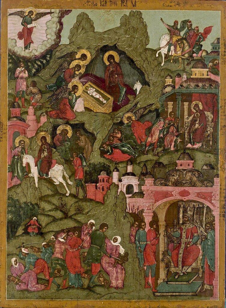 РОЖДЕСТВО ГОСПОДА НАШЕГО ИИСУСА ХРИСТА Россия, ок. 1700.