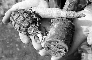 На о.Русском обнаружен склад боеприпасов