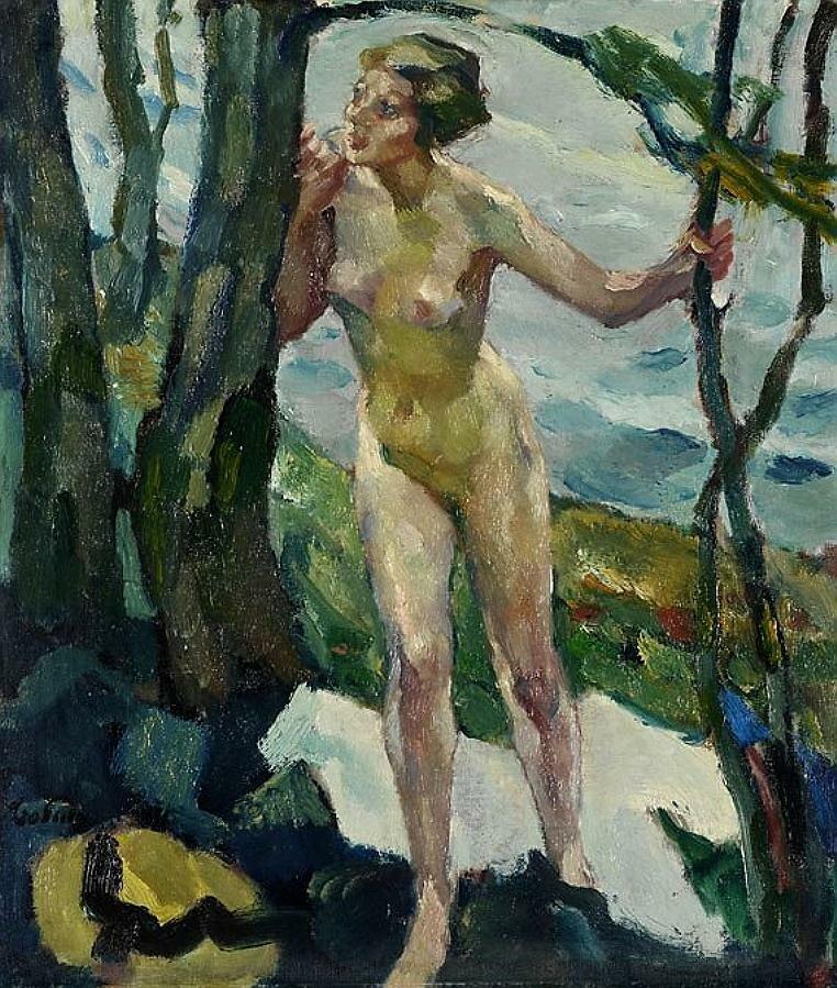 Обнажённая у дерева, 1910, Лео Путц