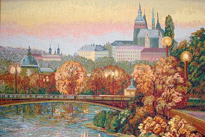 """Картина гобеленовая  """"Прага """" 75х52."""