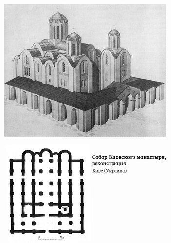 Собор Кловского монастыря, реконстркция, план и реконструкция