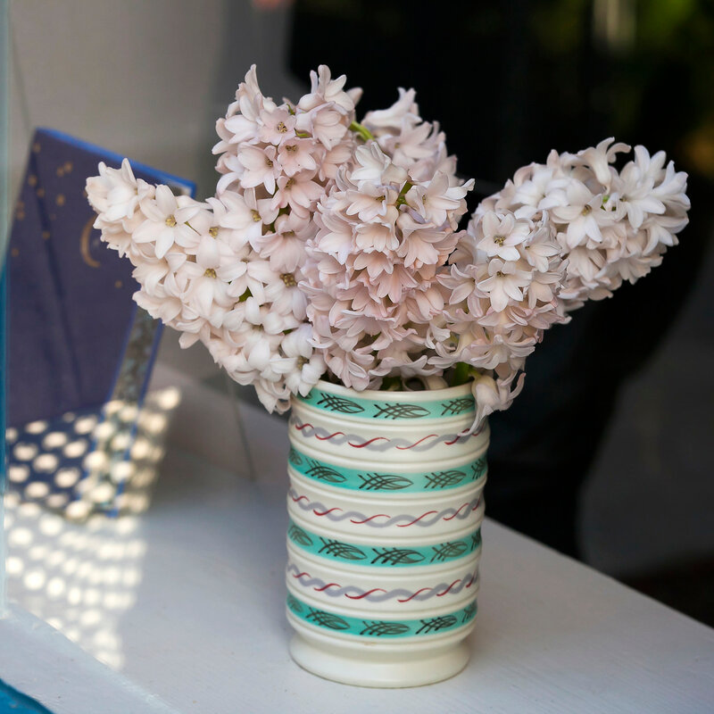 Easter interior with Hyacinth flower