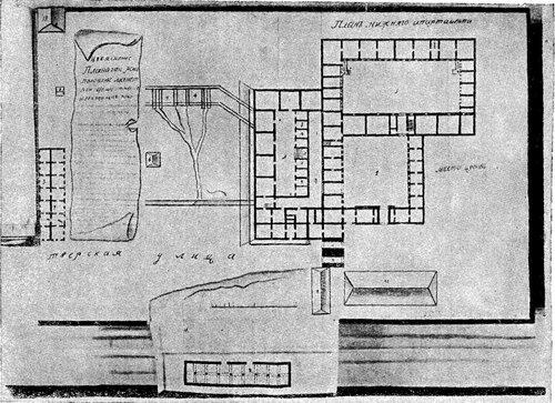 Рисунок 114. План Монетной экспедиции. Нижний этаж (ЦГАДА).