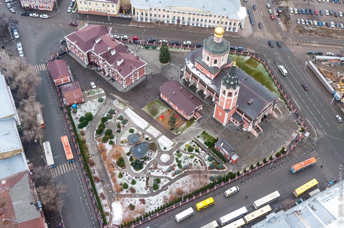 Музейная площадь аэросъёмка Саратов 1