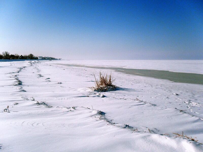 Зима, берег моря