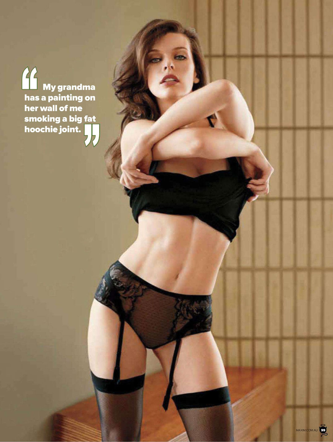 Milla Jovovich / ����� ������� � ������� Maxim Australia, ���� 2012 / �������� Matt Jones