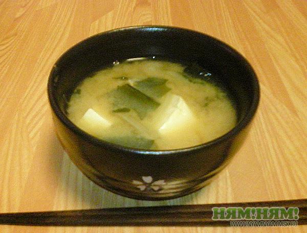 Рыбный суп с мисо пастой