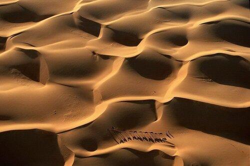 Караван в дюнах. Мавритания