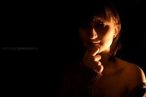 Анна портрет, девушка, Анна, тени, фотосессия, фотосессия в студии