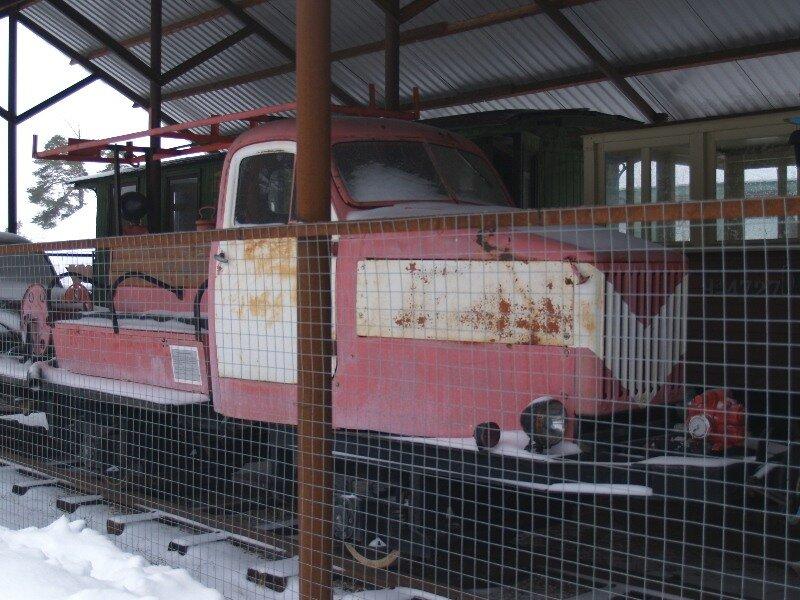 Музей узкоколейных дорог. Пожарная дрезина