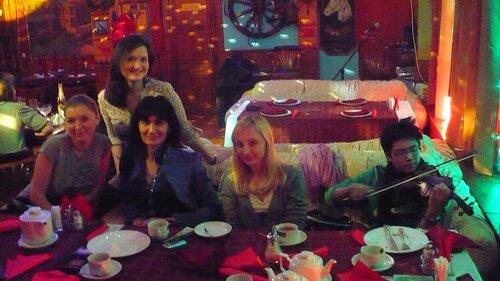 встреча для совместного посыла любви в Москве. Ели вкусные аланские пироги! (Лучшие в Москве)