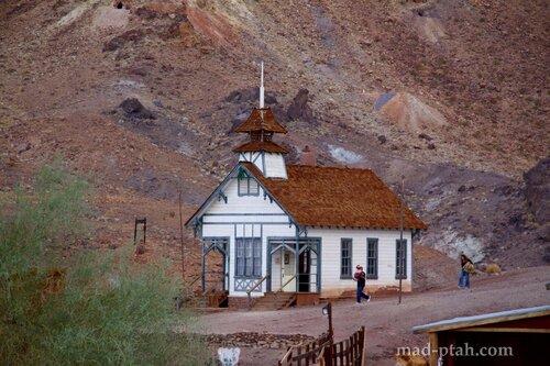 Калико, калифорния, город-призрак, сша, calico, usa, ghost town, церковь, church