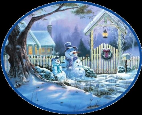 Снежная картинка - Новогоднего настроения! Пусть все будут счастливы!