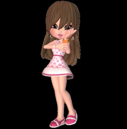 Cookie в розовом платьице