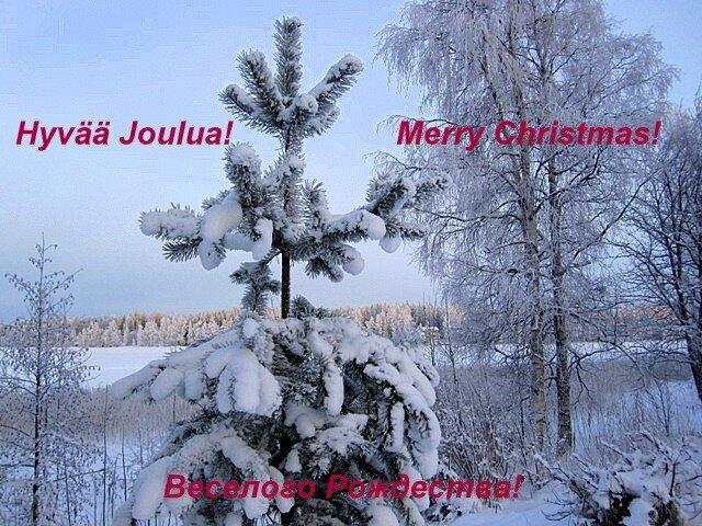Christmas self_made poscard Varkaus