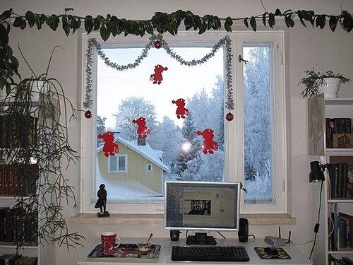 varkaus computer winter view window snow new year