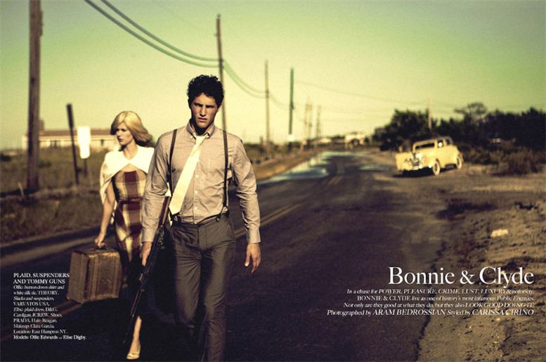 Elise Digby and Ollie Edwards by Aram Bedrossian in Bonnie and Clyde