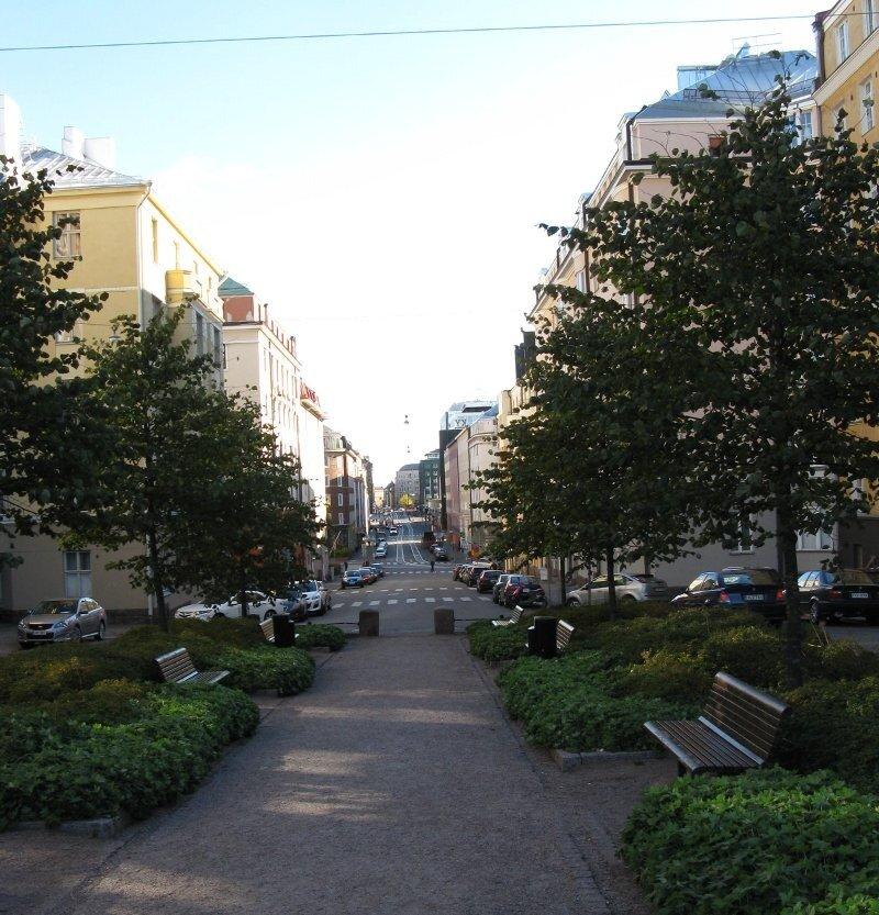 Helsinki. Boulevard Fredrikinkatu