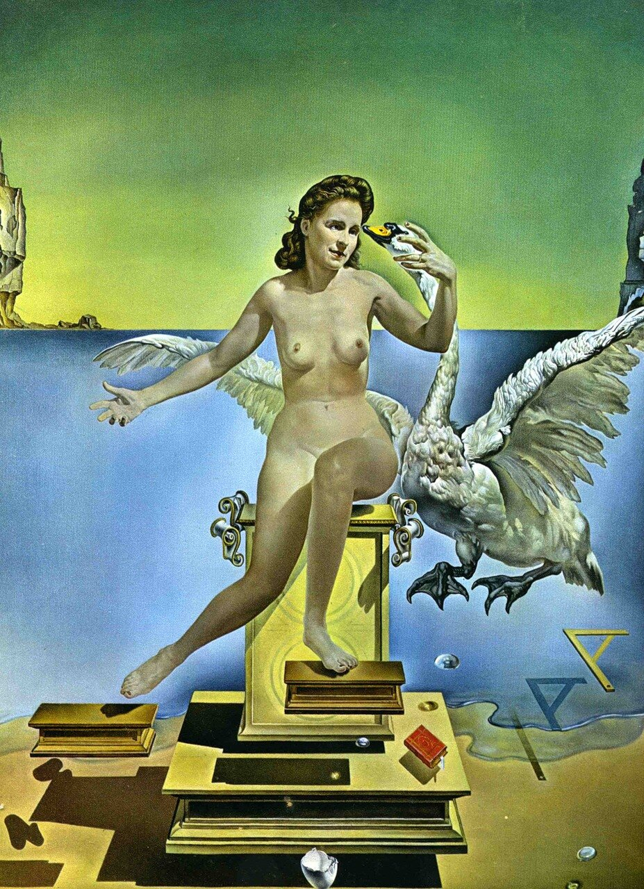 leda and the swan by Dali